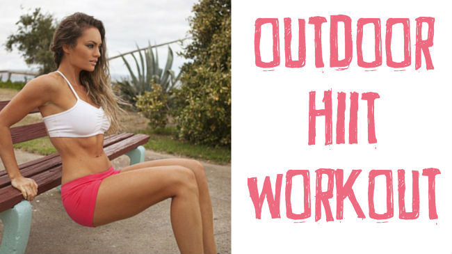 Find a park bench and burn fat with this HIIT workout