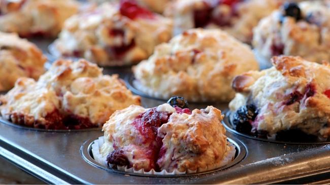 F.I.T. Raspberry Smash Muffins