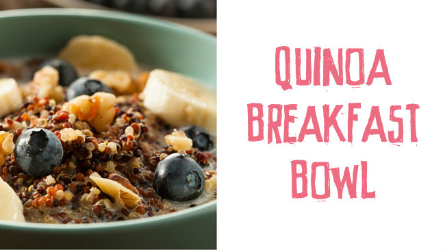 Berry and Hazelnut Quinoa Bowl