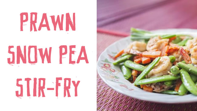 Prawn and snow pea stir-fry
