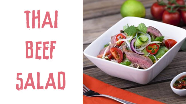 Tangy thai beef salad