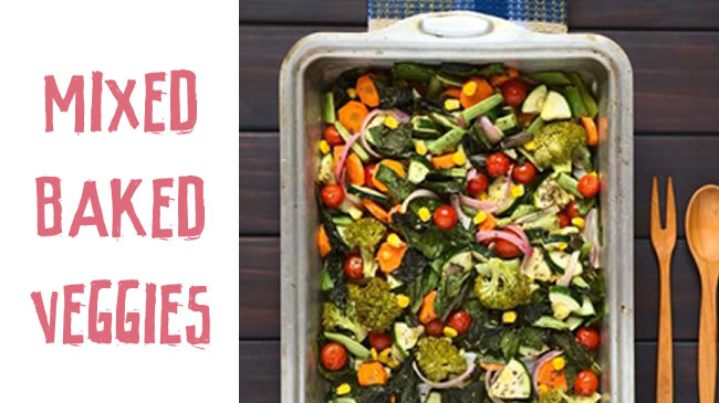 Mixed baked veggies