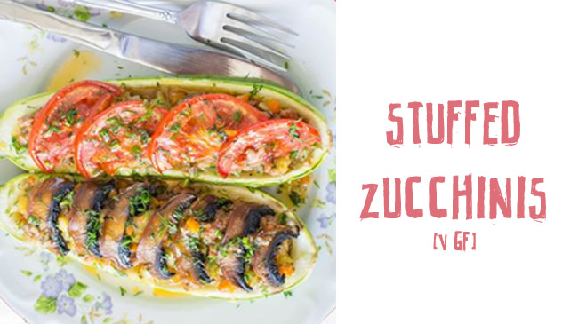 Delicious vegan stuffed zucchinis (gf)