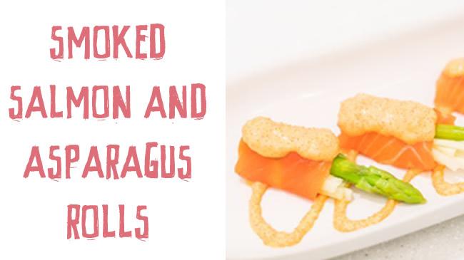 Smoked salmon & asparagus rolls