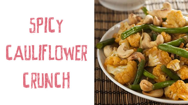 Spicy cauliflower crunch