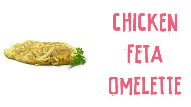 Chicken & feta omelette
