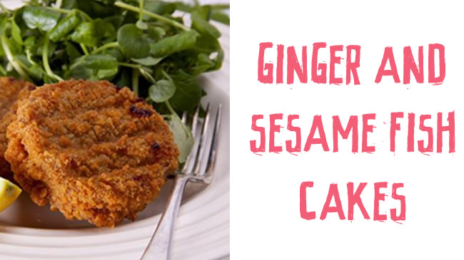 Ginger and sesame fish cakes