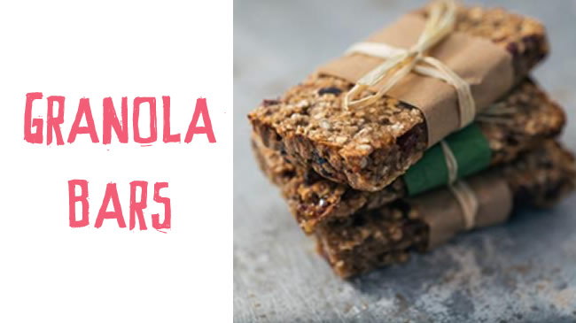 On the go granola bars