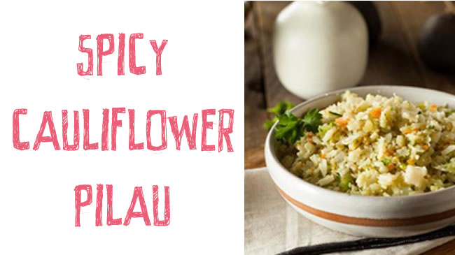 Spicy cauliflower pilau (GF)