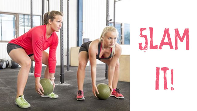 Slam Balls - the total body workout that relieves stress!