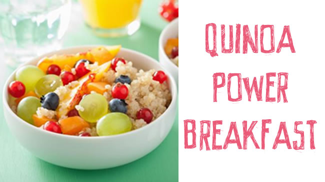 Quinoa and fruit bowl