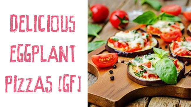 Delicious eggplant pizzas (GF)