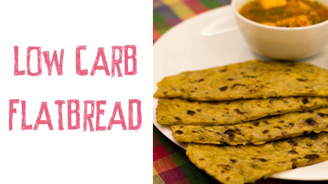 Low carb, gluten free, paleo - cauliflower turmeric flatbread