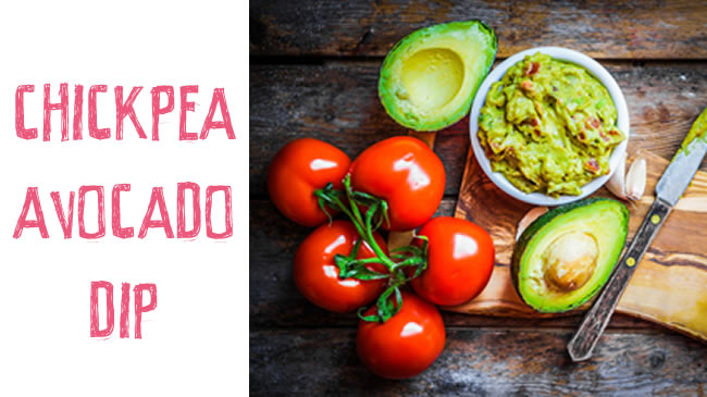 Chickpea and avocado dip - yummy!