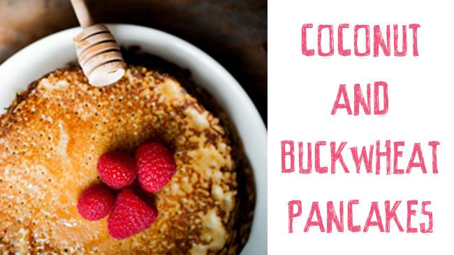 Coconut and buckwheat pancakes (GF, Vegan)