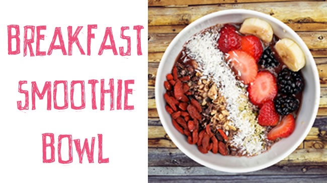 Start your day with this delicious smoothie bowl