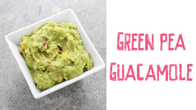 Protein-packed green pea guacamole