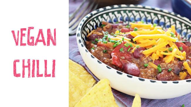 Protein-packed vegan chilli