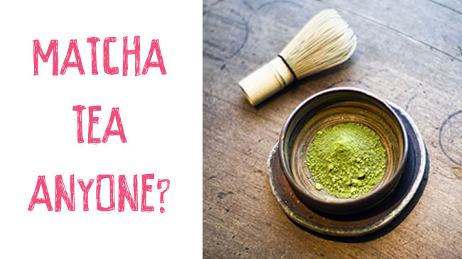 Meditate with matcha tea