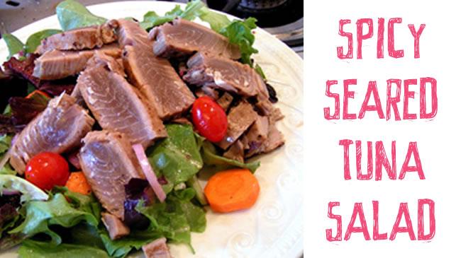 Spicy seared tuna salad