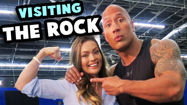Visiting 'The Rock' on the set of 'Ballers' | Self worth/self belief talk