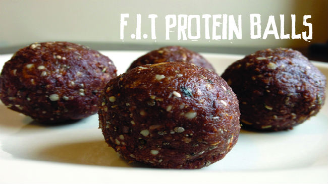 F.I.T. Chocolate Protein Balls