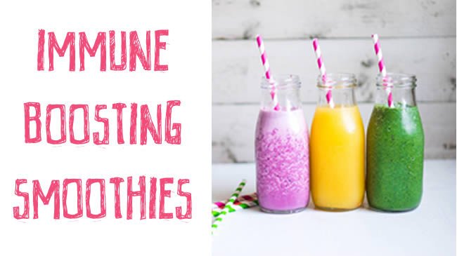 Forget the flu season with these delicious immune boosting smoothies