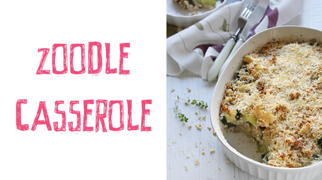Tuna & zucchini zoodle casserole (GF)
