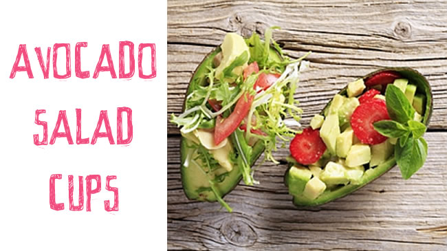 Avocado salad cups