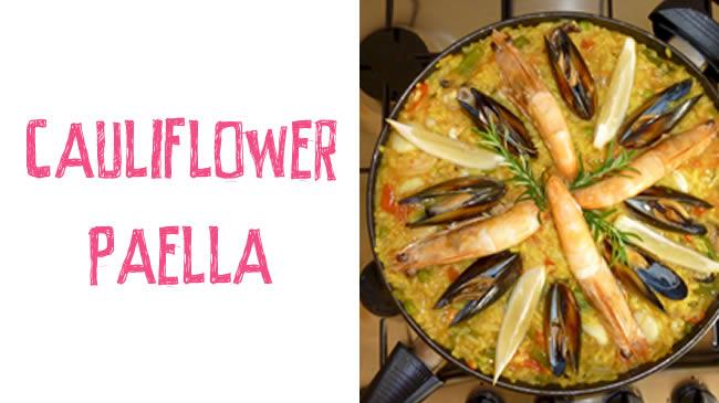 Cauliflower paella - grain free paella dish