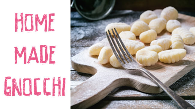 Homemade gnocchi with simple sauce (GF)
