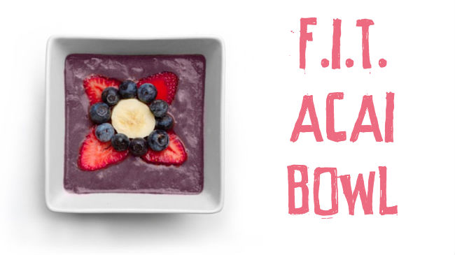 Superfood Acai smoothie bowl
