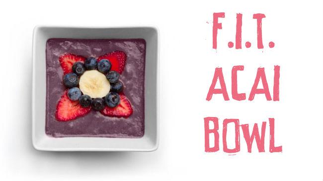 Superfood Acai smoothie bowl